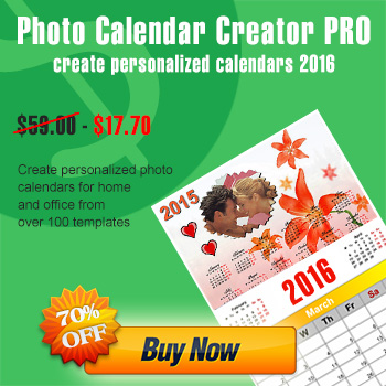 Photo Calendar Creator PRO discount 75% OFF
