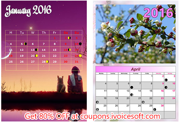 70 OFF Photo Calendar Creator PRO Coupon Code Jan 2019