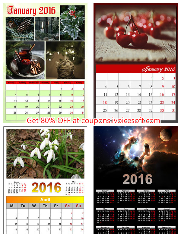 Create photo calendar coupon code qs hot deals product for Iphoto calendar templates