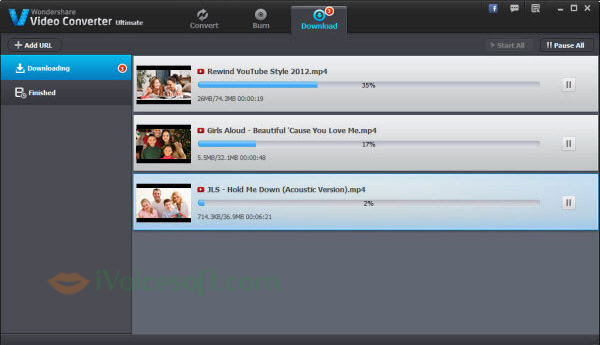 Download Youtube video with Wondershare Video Converter
