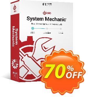 iolo System Mechanic Coupon discount 70% off all iolo primary software products. Promotion: Massive coupon: 70% off. Default coupon AF50iolo