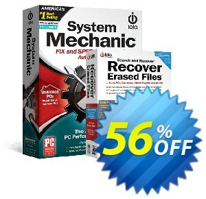 System Mechanic + Search and Recover Bundle Coupon, discount Save on Bundle Offer!. Promotion: excellent promo code of System Mechanic + Search and Recover Bundle 2021