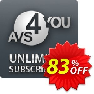 AVS4YOU Unlimited Subscription 折扣码 . 扣头: AVS4U Autumn Sale for Couponism (Before Code: F3F4DCF0)