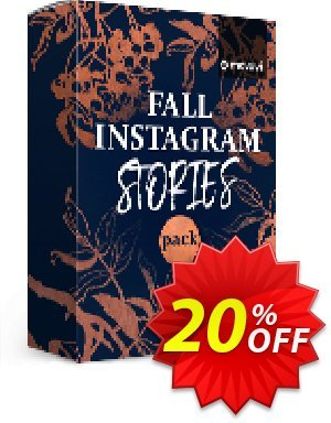 Movavi effect: Fall Instagram Stories Pack 프로모션 코드 Fall Instagram Stories Pack Exclusive discounts code 2020 프로모션: Exclusive discounts code of Fall Instagram Stories Pack 2020