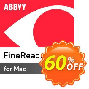ABBYY FineReader 14 Standard For MAC Coupon, discount ABBYY FineReader discount codes for MAC. Promotion:
