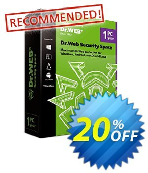 Dr.Web Security Space Coupon, discount Home products (Dr.Web Security Space)+Free protection for mobile device! wonderful deals code 2020. Promotion: Dr.Web coupon, Dr.Web Security Space coupon code