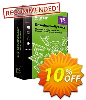 Dr.Web Security Space (Without Technical support) Coupon, discount Dr.Web Security Space without technical support big sales code 2020. Promotion: big sales code of Dr.Web Security Space without technical support 2020