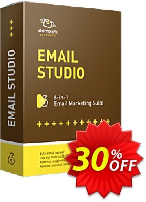 Atomic Email Studio Coupon, discount STUDIO20. Promotion: exclusive promotions code of Atomic Email Studio 2020