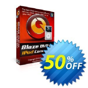 BlazeVideo DVD to iPod Converter Coupon discount Save 50% Off - awful deals code of BlazeVideo DVD to iPod Converter 2019