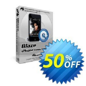 BlazeVideo iPhone Video Converter Coupon discount Save 50% Off - amazing discount code of BlazeVideo iPhone Video Converter 2019