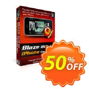 BlazeVideo DVD to iPhone Converter 優惠券,折扣碼 Save 50% Off,促銷代碼: super promo code of BlazeVideo DVD to iPhone Converter 2020