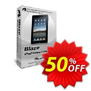 BlazeVideo iPad Video Converter discount coupon Save 50% Off - big promotions code of BlazeVideo iPad Video Converter 2020