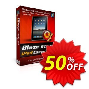 BlazeVideo DVD to iPad Converter Coupon discount Save 50% Off - hottest sales code of BlazeVideo DVD to iPad Converter 2019