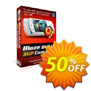 BlazeVideo DVD to 3GP Converter 優惠券,折扣碼 Save 50% Off,促銷代碼: exclusive offer code of BlazeVideo DVD to 3GP Converter 2019