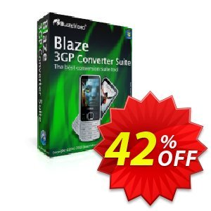 BlazeVideo 3GP Converter Suite Coupon, discount Save 42% Off. Promotion: awesome discount code of BlazeVideo 3GP Converter Suite 2019