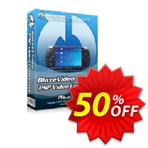 BlazeVideo PSP Video Converter Coupon discount Save 50% Off - wonderful promo code of BlazeVideo PSP Video Converter 2019