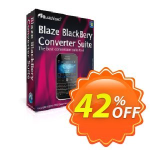 BlazeVideo BlackBerry Converter Suite 優惠券,折扣碼 Save 42% Off,促銷代碼: awesome promotions code of BlazeVideo BlackBerry Converter Suite 2020