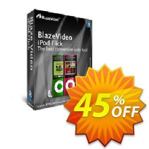 BlazeVideo iPod Flick 프로모션 코드 Save 45% Off 프로모션: amazing offer code of BlazeVideo iPod Flick 2020