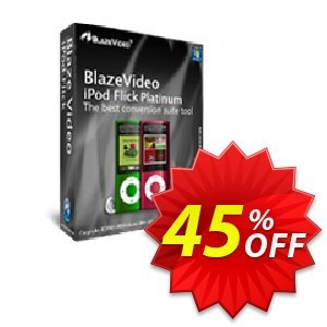 BlazeVideo iPod Flick Platinum Coupon discount Save 45% Off - stunning discount code of BlazeVideo iPod Flick Platinum 2020
