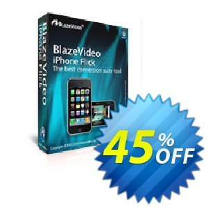 BlazeVideo iPhone Flick Coupon discount Save 45% Off. Promotion: staggering promo code of BlazeVideo iPhone Flick 2020