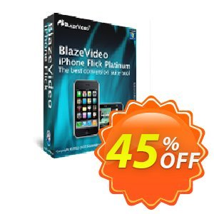 BlazeVideo iPhone Flick Platinum Coupon discount Save 45% Off - imposing discounts code of BlazeVideo iPhone Flick Platinum 2020