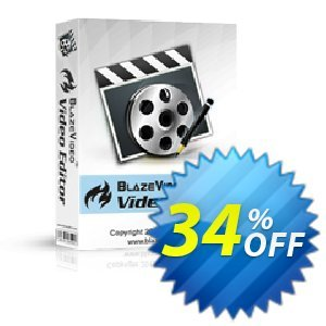 BlazeVideo Video Editor Coupon discount Holiday Discount: $10 OFF - imposing discounts code of BlazeVideo Video Editor 2020