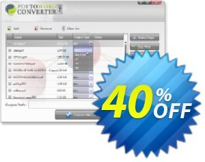 PDF to Word Converter Software Coupon, discount PDF to Word Converter Software best promotions code 2019. Promotion: best promotions code of PDF to Word Converter Software 2019