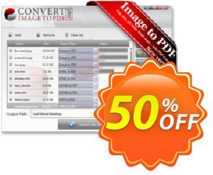 Convert Image to PDF Desktop Software Coupon, discount Convert Image to PDF Desktop Software impressive deals code 2020. Promotion: impressive deals code of Convert Image to PDF Desktop Software 2020