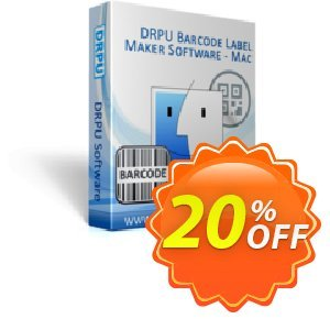 DRPU Barcode Label Maker Software (for MAC Machines) Coupon discount softwarecoupons.com Offer - stunning discount code of DRPU Barcode Label Maker Software (for MAC Machines) 2020