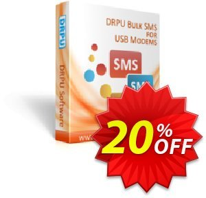 DRPU Bulk SMS Software - Multi USB Modem discount coupon softwarecoupons.com Offer - amazing deals code of DRPU Bulk SMS Software - Multi USB Modem 2020