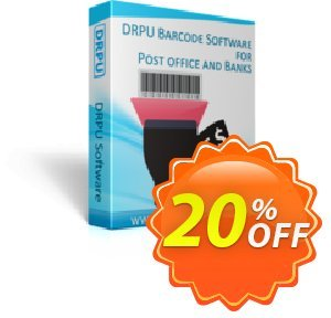 DRPU Post Office and Bank Barcode Label Maker Software Coupon discount softwarecoupons.com Offer. Promotion: hottest discount code of DRPU Post Office and Bank Barcode Label Maker Software 2020