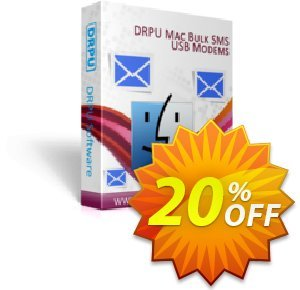 DRPU MAC Bulk SMS Software for USB Modems 優惠券,折扣碼 softwarecoupons.com Offer,促銷代碼: awful deals code of DRPU MAC Bulk SMS Software for USB Modems 2019