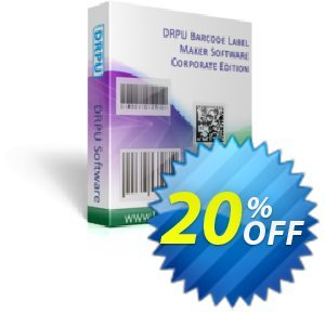 DRPU Barcode Maker software - Corporate Edition产品销售 softwarecoupons.com Offer