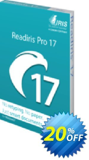 Readiris Pro 17 Coupon, discount Readiris Pro 17 for Windows (PDF and OCR Software) marvelous discounts code 2021. Promotion: marvelous discounts code of Readiris Pro 17 for Windows (PDF and OCR Software) 2021