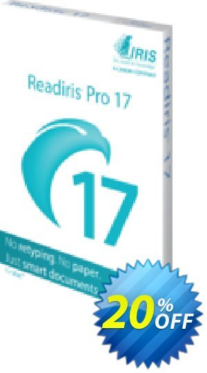 Readiris Pro 17 for Mac Coupon, discount Readiris Pro 17 for Mac (OCR & PDF Software) wondrous promotions code 2021. Promotion: wondrous promotions code of Readiris Pro 17 for Mac (OCR & PDF Software) 2021