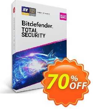 Bitdefender Total Security 2019 Multi-Device, 1 years - 5 device Coupon, discount Bitdefender Total Security Multi-Device 2019 (1 Year 5 Users) at US$44.00 exclusive deals code 2019. Promotion: big discounts code of Bitdefender Total Security Multi-Device 2019 (1 Year 5 Users) at US$44.00 2019