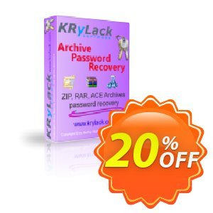 KRyLack Archive Password Recovery Coupon, discount KRyLack Archive Password Recovery marvelous promo code 2021. Promotion: marvelous promo code of KRyLack Archive Password Recovery 2021