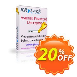 Asterisk Password Decryptor Coupon, discount Asterisk Password Decryptor formidable discounts code 2019. Promotion: formidable discounts code of Asterisk Password Decryptor 2019