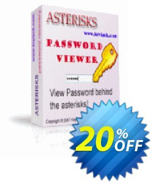 Asterisks Password Viewer Coupon, discount Asterisks Password Viewer hottest promo code 2021. Promotion: hottest promo code of Asterisks Password Viewer 2021