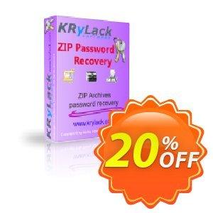 KRyLack ZIP Password Recovery Coupon, discount KRyLack ZIP Password Recovery special promotions code 2021. Promotion: special promotions code of KRyLack ZIP Password Recovery 2021