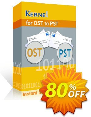Get Kernel for OST to PST (Corporate License upgrade) 80% OFF coupon code