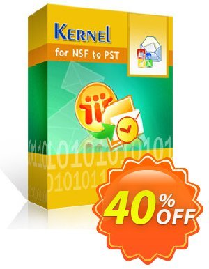 Kernel for Lotus Notes to Outlook (100 NSF Files) Coupon discount 30% OFF Kernel for Lotus Notes to Outlook (100 NSF Files), verified