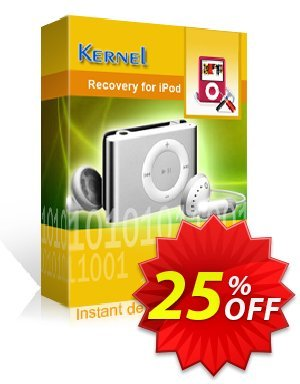 Kernel Recovery for IPod Coupon, discount Kernel Recovery for IPod amazing offer code 2020. Promotion: amazing offer code of Kernel Recovery for IPod 2020