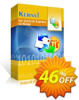 Kernel for Outlook Express to Notes Coupon, discount Kernel for Outlook Express to Notes - Home License stunning offer code 2020. Promotion: stunning offer code of Kernel for Outlook Express to Notes - Home License 2020