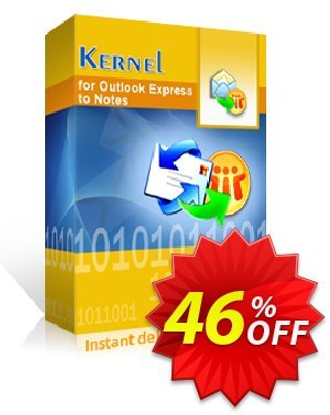 Kernel for Outlook Express to Notes - Corporate License Coupon, discount Kernel for Outlook Express to Notes - Corporate License staggering discount code 2020. Promotion: staggering discount code of Kernel for Outlook Express to Notes - Corporate License 2020