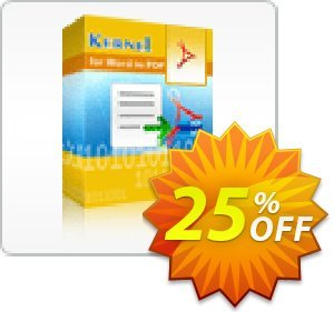 Kernel for Word to PDF discount coupon Kernel for Word to PDF - Single User License amazing deals code 2020 - amazing deals code of Kernel for Word to PDF - Single User License 2020