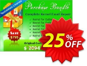 Bundle Complete Kernel Email Repair Coupon, discount Complete Kernel Email Repair - Technician License best promo code 2020. Promotion: best promo code of Complete Kernel Email Repair - Technician License 2020