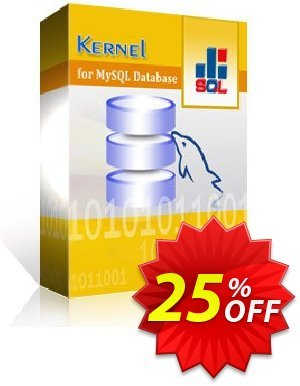 Kernel for MySQL Database 프로모션 코드 Kernel for MySQL Database big promo code 2021 프로모션: big promo code of Kernel for MySQL Database 2021