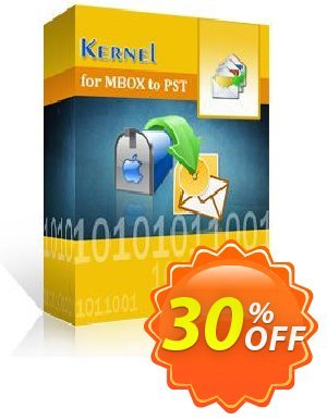Kernel for MBOX to PST  - Corporate License Coupon, discount Kernel for MBOX to PST  - Corporate License best sales code 2020. Promotion: best sales code of Kernel for MBOX to PST  - Corporate License 2020