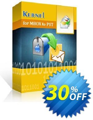 Kernel for MBOX to PST  - Home User License Coupon, discount Kernel for MBOX to PST  - Home User License big deals code 2020. Promotion: big deals code of Kernel for MBOX to PST  - Home User License 2020